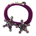 Amethyst Double Bracelet adorned with Swarovski crystals